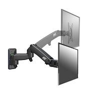 Fiber Mounts F150 - levný výškově nastavitelný držák na LCD LED plazma Tv, otáčení do stran, náklon, korekce roviny, funkce pivot.