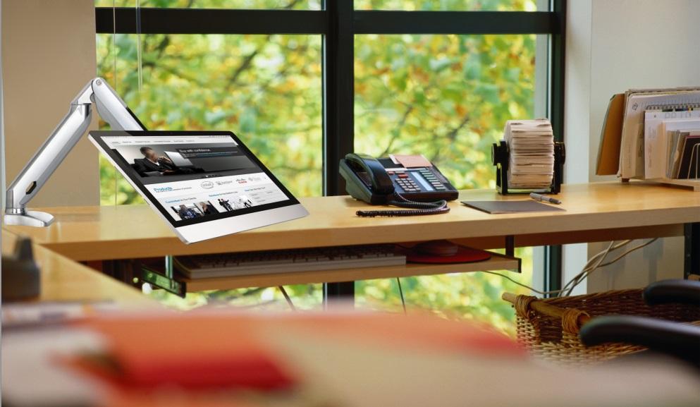 Luxusní špičkový stolní držák na monitor a Tv NB F100