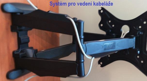 Systém pro vedení kabeláže není životně důležitým faktorem televizních držáků, ale pokud je držáky stejně jako NB SP500-P5 mají, instalace a výsledný vhled je vždy podstatně lepší.