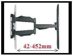 Nastavenie vzdialenosti obrazovky od steny - kto šetrí má za tri s držiakom lcd NB SP500