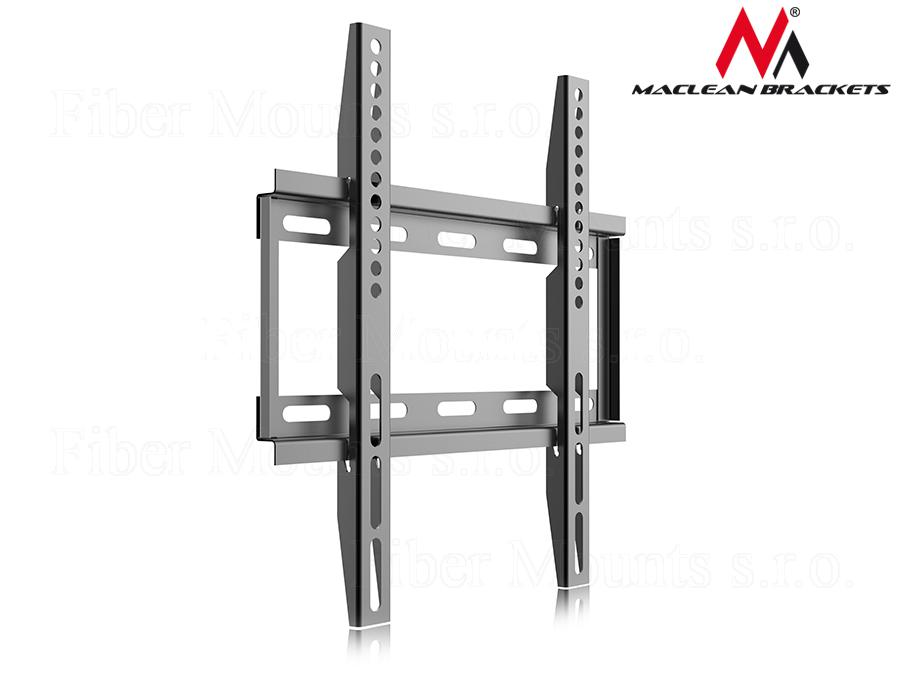 """Maclean MC-649 fixní držák na LCD LED televize a monitory (Kvalitní fixní držák s pevnou ocelovou konstrukcí, vhodný pro zavěšení Tv 17-39"""", podpora VESA 75x75 až 300x200, nosnost 25kg)"""