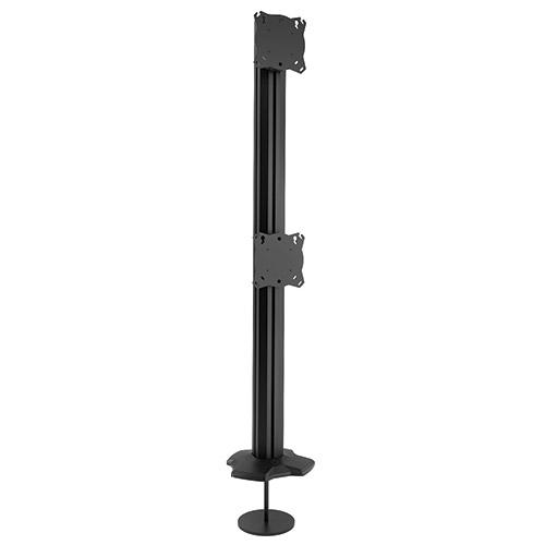 """CHIEF K3G120B profesionální kancelářský držák dvou monitorů (Stolní držák na 2 monitory 17-30"""", zavěšení nad sebe, otočný, sklopný, nastavení výšky, TOP kvalita a design)"""
