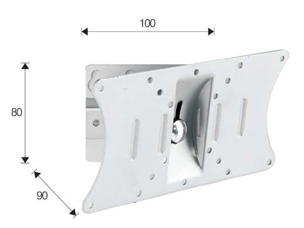 OMB Monosolution bílý - kvalitní držák na TV a monitory (Otočný a sklopný držák na TV a monitory, vysoká kvalita, výborná cena. Otočný, sklopný, VESA standard, nosnost 20kg.)