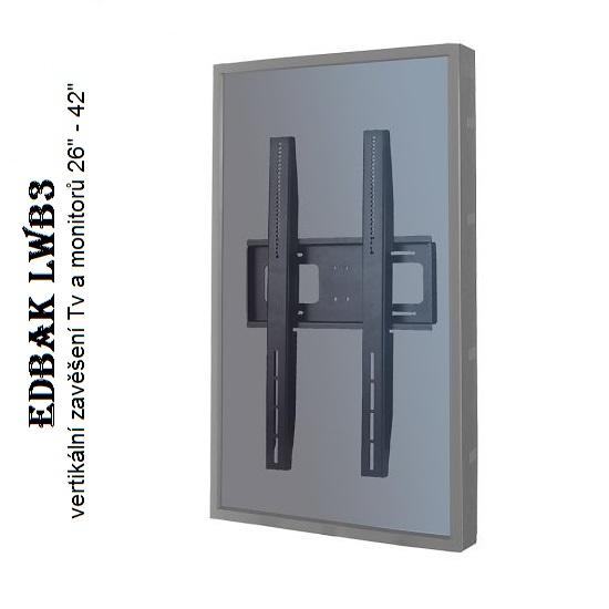 EDBAK LWB3 nástěnný držák pro vertikální zavěšení Tv a monitorů