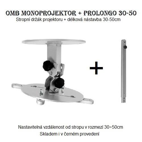 Držák na projektor s nastavitelnou délkou OMB Monoprojektor 30-50cm