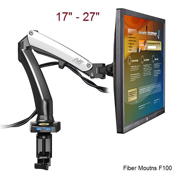 Profesionální stolní držák na monitor Fiber Mounts F100