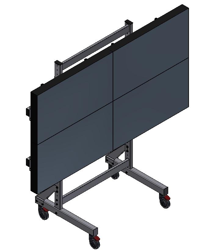 EDBAK VWT2247-L televizní stojan na 4 obrazovky