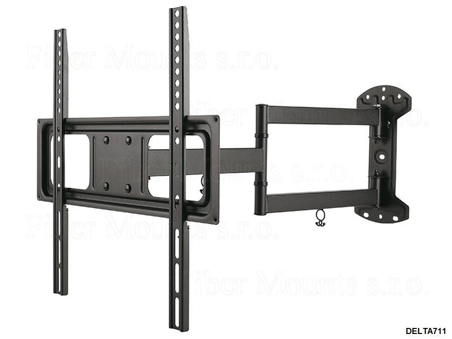 """Fiber Mounts DELTA711 - výsuvný, otočný a sklopný držák Tv (Nástěnný držák pro zavěšení Tv 32-55"""", výsuvný, otočný i sklopný)"""