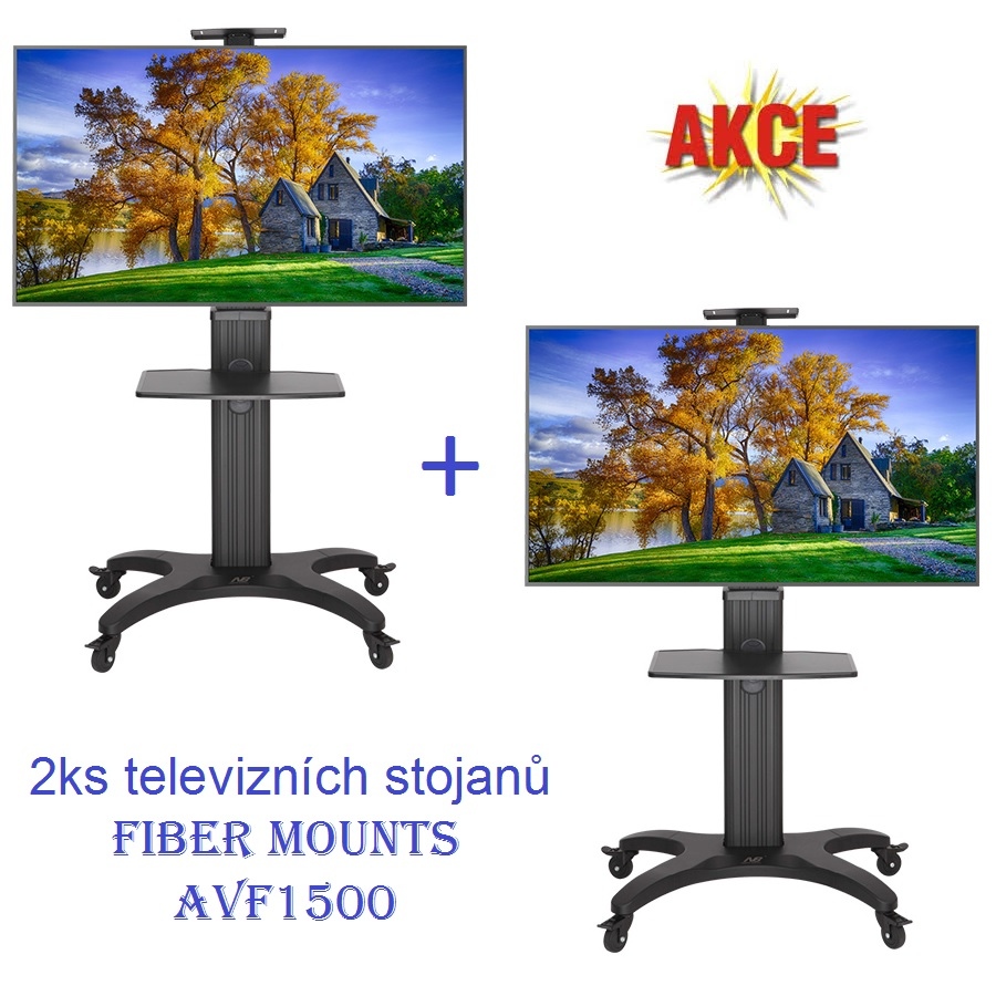 """2ks televizních stojanů Fiber Mounts AVF1500 (Profesionální luxusní televizní stojan na televize 32"""" až 60"""")"""