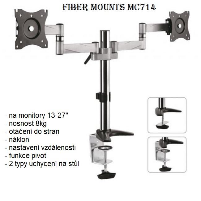 Kancelářský držák na 2 monitory Fiber Mounts MC714