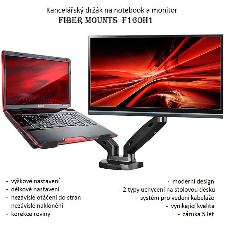 Fiber Mounts F160H1 - kancelářský držák notebooku a monitoru