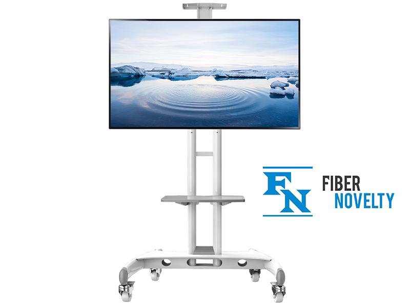 """Bílý stojan na Tv Fiber Novelty AVA1500W (Kvalitní, spolehlivý, bezpečný televizní stojan v luxusním bílém provedení, na Tv a monitory 32-65"""")"""
