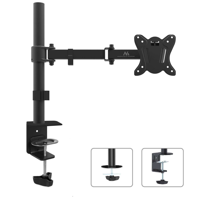 """Výsuvný držák LCD monitoru Fiber Mounts SDM690N (Výsuvný, otočný, sklopný a výškově nastavitelný kancelářský držák na LCD monitory 13-27"""")"""