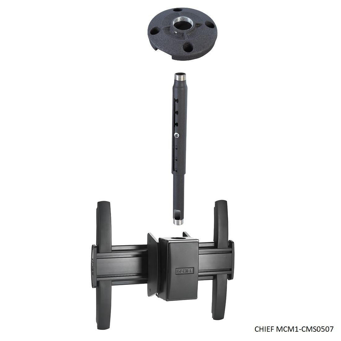 """CHIEF MCM1-CMS0507 - profesionální stropní držák na televizory a monitory (Stropní držák nejvyšší kvality a krásného designu. Nastavitelná délka 1530-2140mm, na Tv a monitory 37-60"""")"""