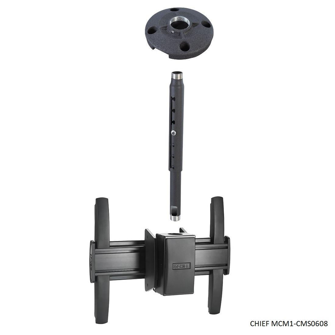"""CHIEF MCM1-CMS0608 - profesionální stropní držák na televizory a monitory (Stropní držák nejvyšší kvality a krásného designu. Nastavitelná délka 1830-2450mm, na Tv a monitory 37-60"""")"""