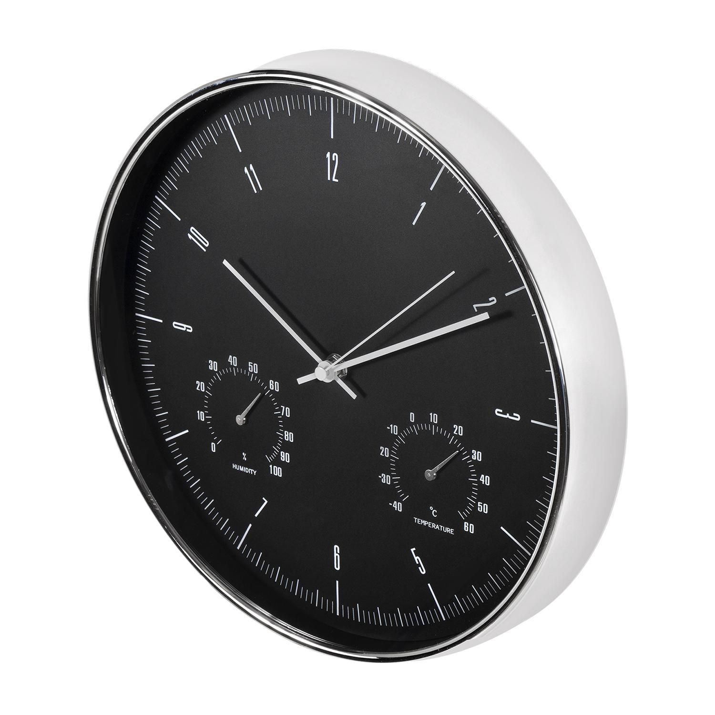 Levné designové hodiny výborné kvality, tichý chod, netikají, teploměr, vlhkoměr, průměr 30cm - Fiber Mounts CE60