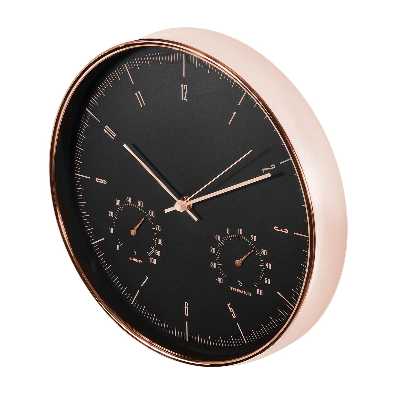 Levné designové hodiny výborné kvality, tichý chod, netikají, teploměr, vlhkoměr, průměr 30cm - Fiber Mounts CE70G