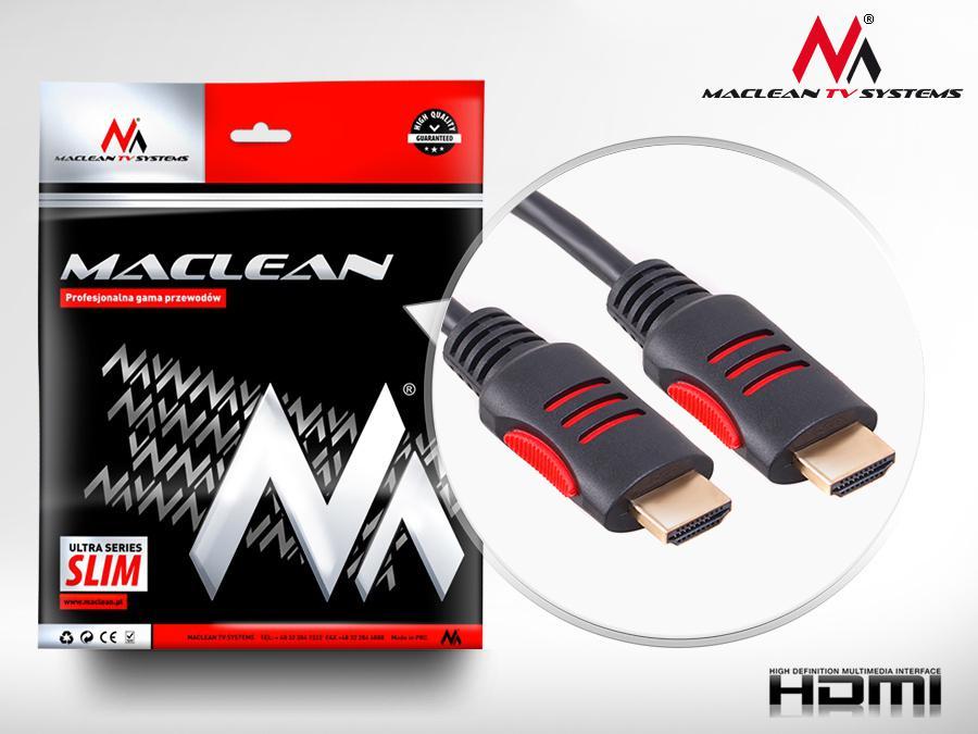 HDMi - HDMi kabel 1.4 3D 30AWG W/2, délka 5m - Maclean MCTV814