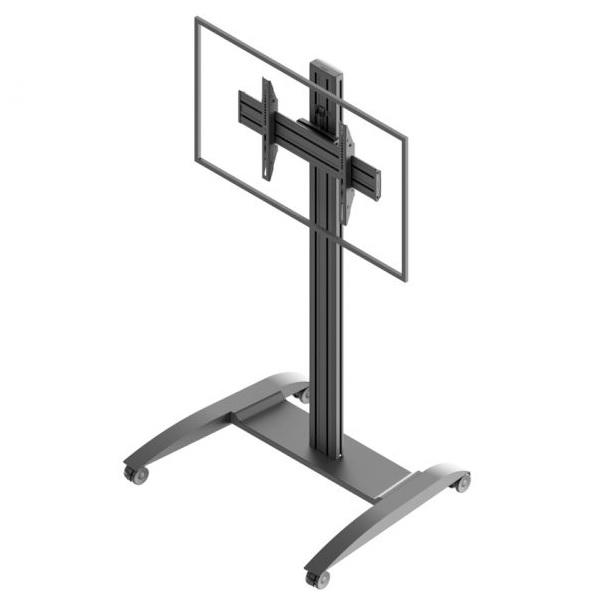 Profesionální stojan na tv a monitory, designový, určený na konference, výstavy, přednášky, veletrhy, do firem a podniků, do kanceláří a hotelů - designový stojan EDBAK TRV100