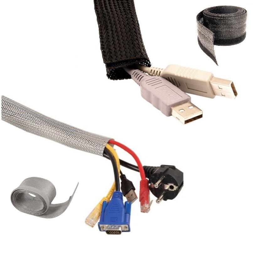 Pořadač na kabeláž Fiber Mounts MC513 černý nebo stříbrný