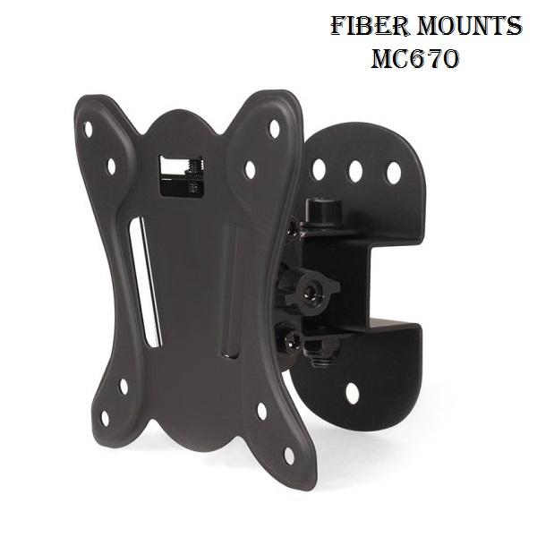 Nástěnný mírně otočný a sklopný držák vhodný pro uchycení VESA adaptéru Fiber Novelty XMA-01A