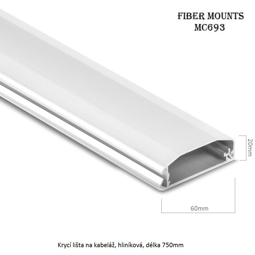 Krycí lišta na kabeláž Fiber Mounts MC693 stříbrná 32684bd100