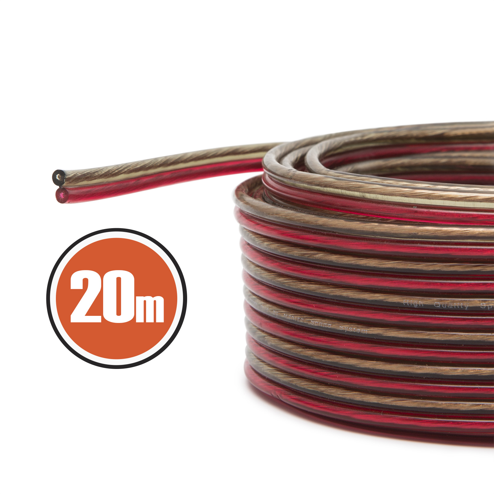 Kabel na reproduktory a reprobedny 20m Fiber Mounts KR20