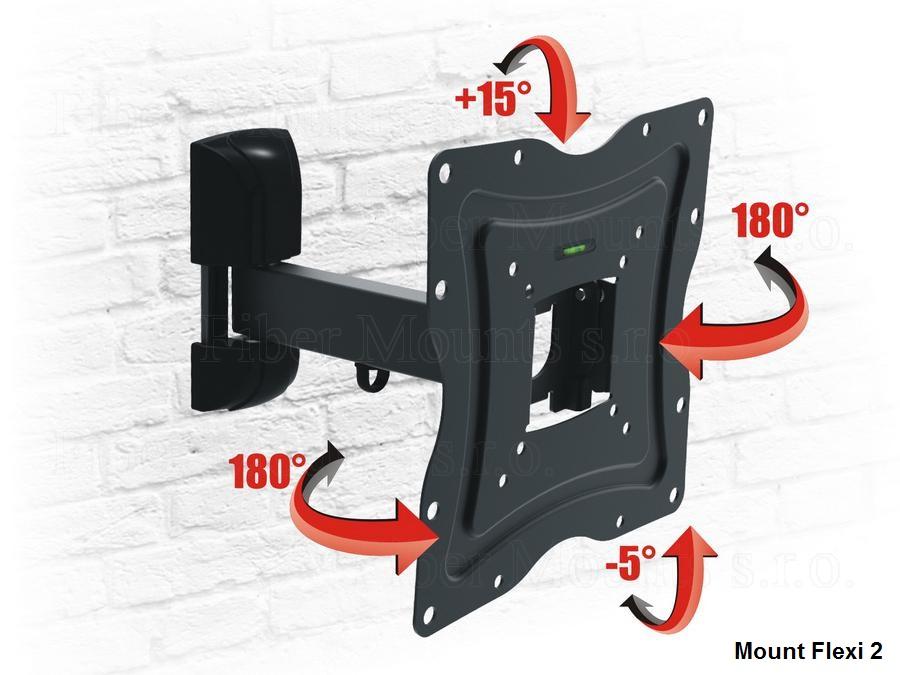 Držák pro zavěšení LCD televizorů na stěnu - Mount Flexo 2