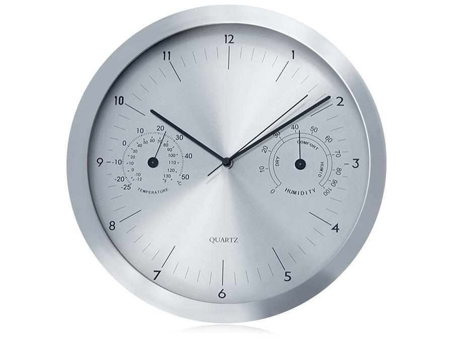 Krásné tiché netikající hodiny stříbrné přehledné velké Fiber Mounts C3S