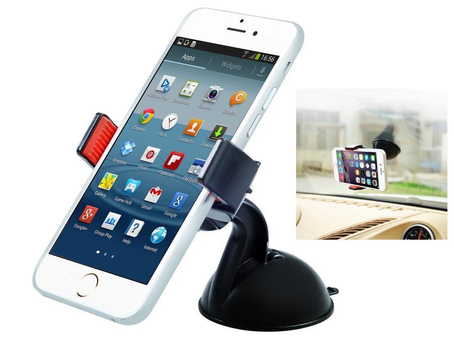 Fiber Mounts DMA658 - kvalitní držák telefonu mobilu do auta, na čelní sklo nebo přístrojovou desku, polohovatelný, fixace pozice, výborná kvalita, nízká cena