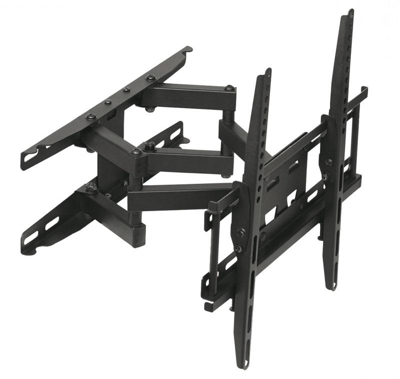 Levný držák na televizi LCD LED plazmovou 3D nebo prohnutou, doporučená úhlopříčka 23-60 palců. Bezpečné zavěšení televize na stěnu, můžete s ní otáčet na obě strany, naklápět ji nahoru nebo dole a odsunovat nebo přisunovat ke zdi. Fiber Mounts AR50 / drzakyastolky.cz