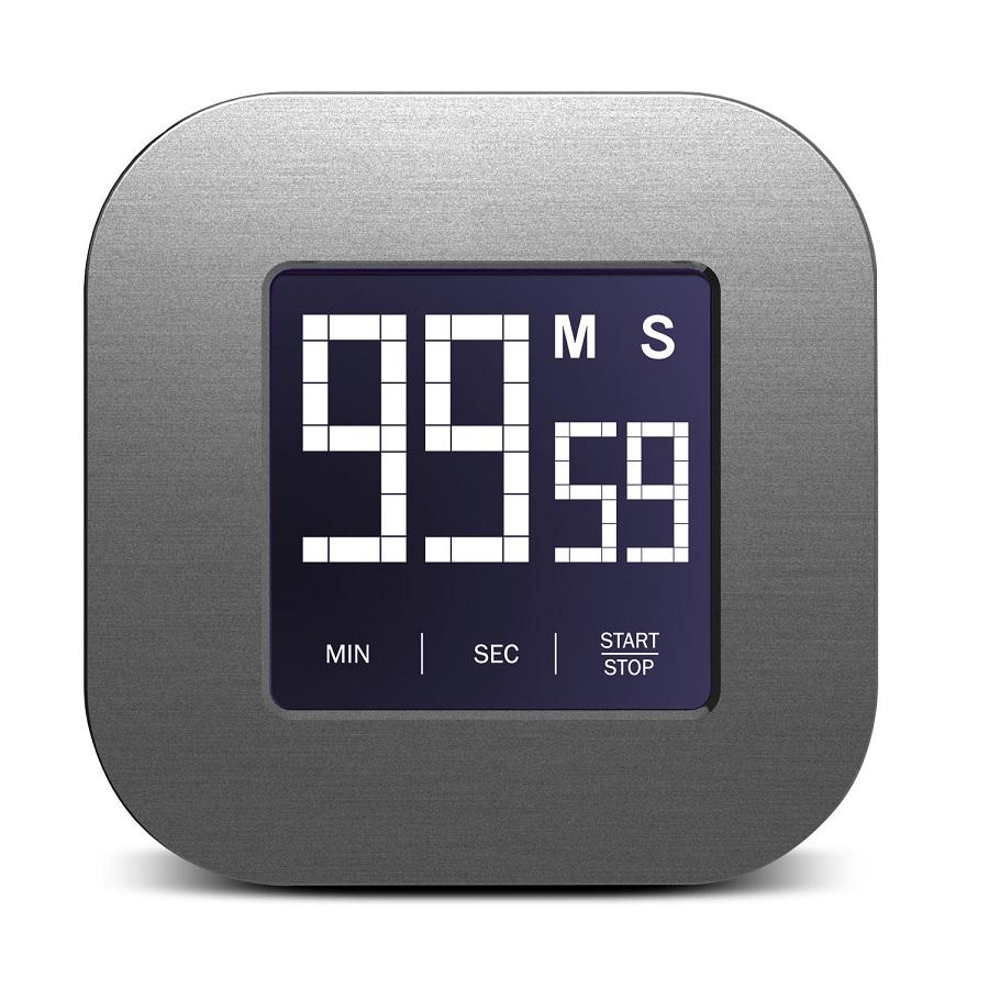 Kvalitní digitální dotyková minutka, magnetická, snadné nastavení odpočítávání při vaření - Fiber Mounts Minutka