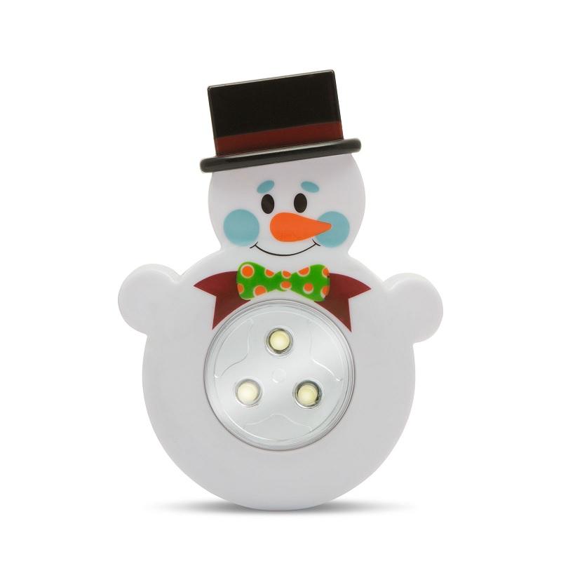 Noční světlo pro děti do dětského pokoje, sněhulák, se spínačem. Vhodné pro děti, které se bojí tmy nebo se v noci často budí - Noční světlo Sněhulák