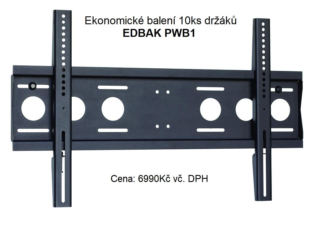 Akční nabídka pro firmy - ekonomické balení 10ks profesionálních držáků EDBAK PWB1