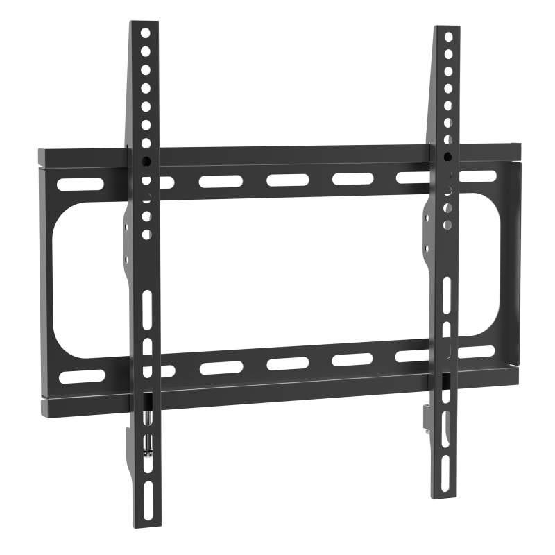 Fixní držák na televizi, velmi levný ale spolehlivý, nosnost 30kg, VESA 75x75 až 400x400, ocelová konstrukce, zajištění tv proti vysazení, vzdálenost od zdi 27mm, instalační materiál - Ergosolid Arcen