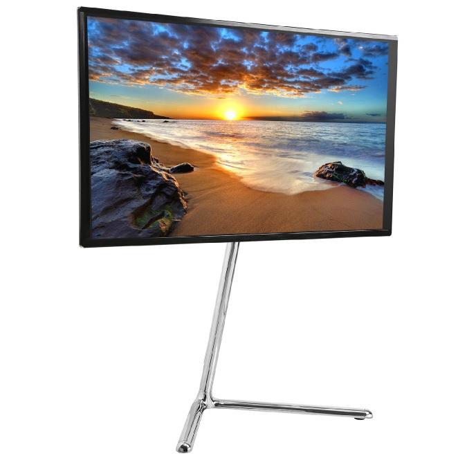 """Dizajnový chromový televizní stojan stolek na Tv 42-70"""" Fiber Mounts M8C68"""