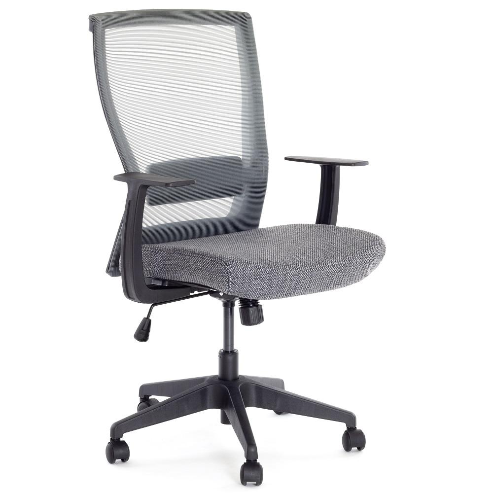 Kancelářská židle s kolečky, polohovací, ergonomická - Ergosolid NELO-G šedá