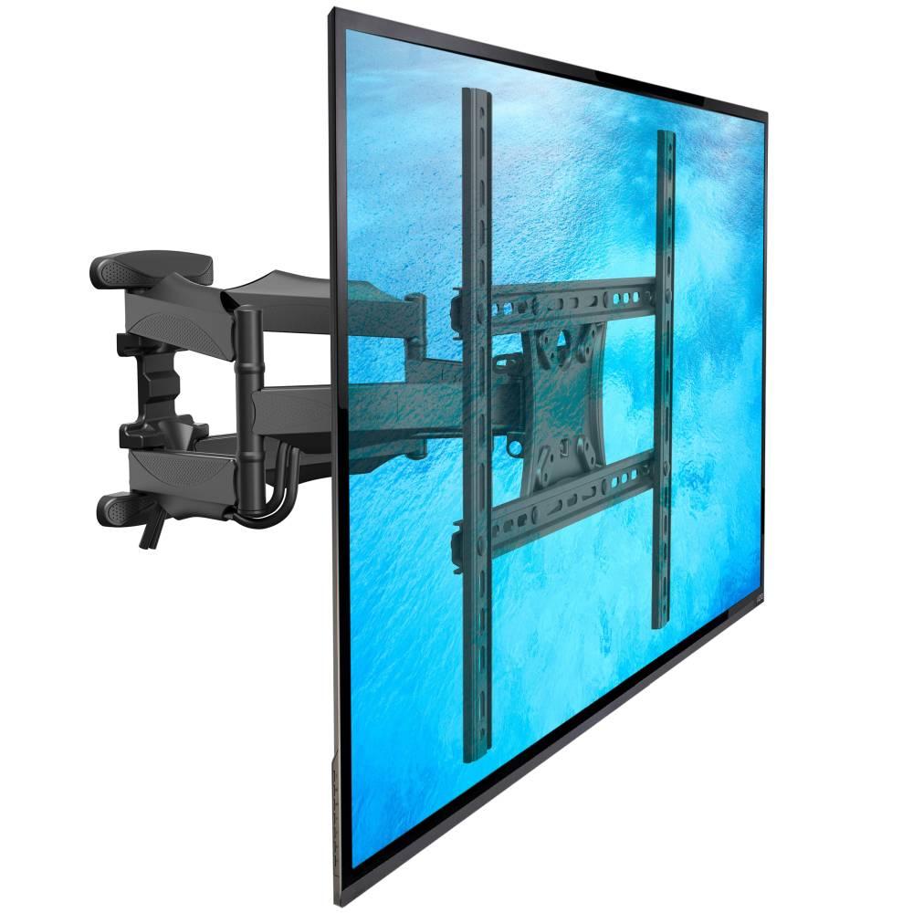 Vynikající nástěnný držák pro zavěšení LCD, LED, 3D, plazmových i prohnutých Tv s úhlopříčkou 32-60 palců. Držák Tv otáčí do stran, naklápí, délkově nastavuje, koriguje rovinu. Vedení kabeláže, TOP design, držák za skvělou cenu - Fiber Mounts SP500-P5