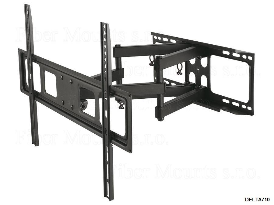 Držák LCD televizorů Fiber Mounts DELTA710 je dvojramenný, výsuvný, otočný a sklopný. Díky nízké ceně se stal velmi oblíbeným a vyhledávaným televizním držákem.