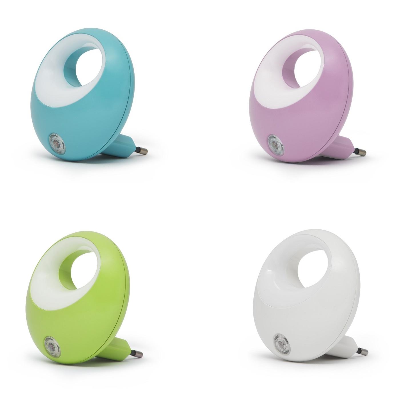 Noční diskrétní světlo v krásném designu, senzor pro automatické rozsvícení při setmění, spotřeba 1W, dlouhá životnost, barva modrá, bílá, fialová - Fiber Mounts Zerro