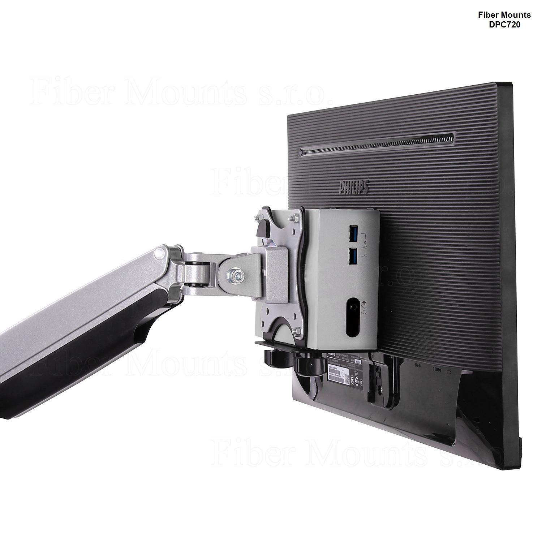 Držák na Intel CPU, MAC Mini CPU apod. s uchycením na držák za monitor - Fiber Mounts DPC720