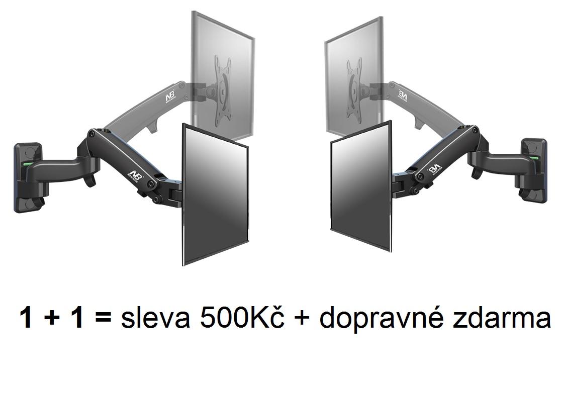 Speciální akční nabídka, kdy získáte 2ks televizních držáků Fiber Mounts F150 se slevou 500Kč a navíc dopravným zdarma / pouze na drzakyastolky.cz