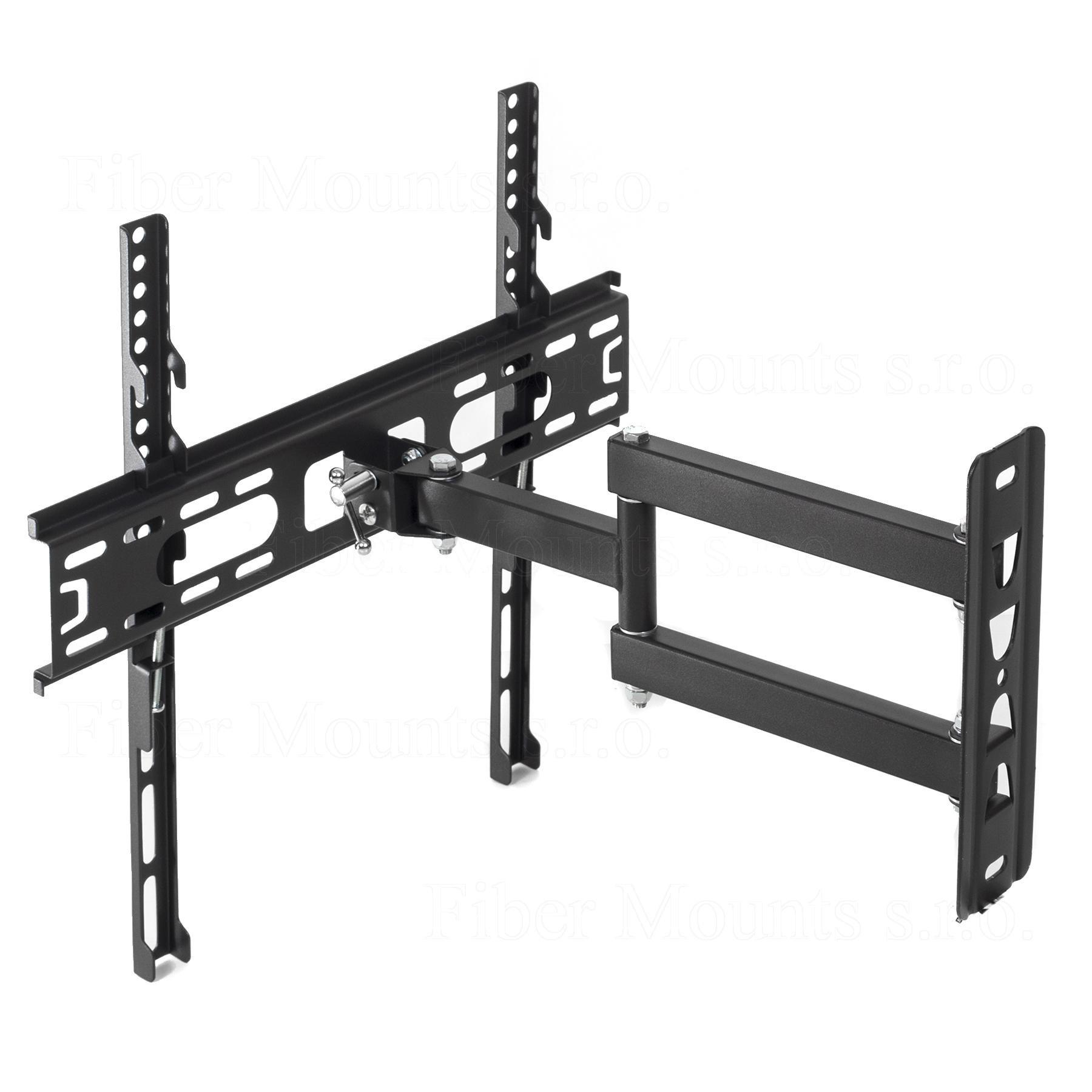 Levný kloubový držák pro zavěšení televize na stěnu, výborná kvalita, ocelová konstrukce, spolehlivý a bezpečný. Otáčení televize na obě strany, naklonění obrazovky nahoru nebo dole, odsunutí nebo přisunutí ke zdi. Nosnost 30kg, VESA standardy 100x100 až 400x400 - držák Fiber Mounts FM761 / drzakyastolky.cz