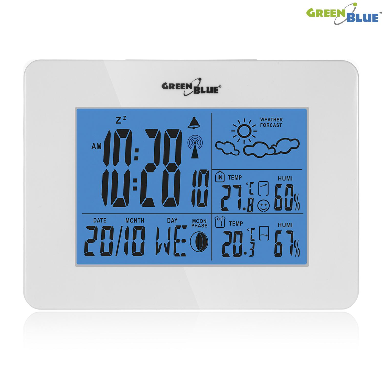 Levná domácí meteostanice, kvalitní, spolehlivá, pěkný design - GreenBlue GB146W