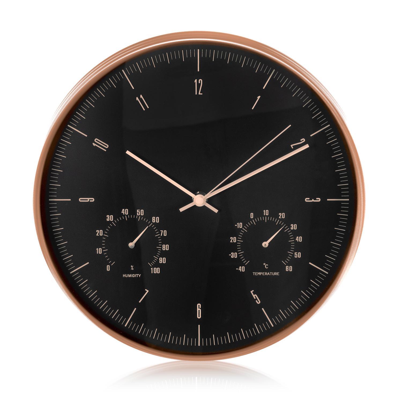 Levné designové hodiny výborné kvality, tichý chod, netikají, teploměr, vlhkoměr, průměr 30cm - Fiber Mounts C7G