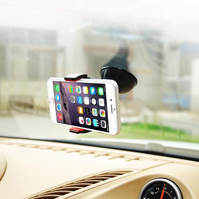 Univerzální držák do auta na mobil telefon, uchycení na přístrojovou desku nebo čelní sklo, polohovatelný, fixace polohy, kvalitní - Fiber Mounts DMA658