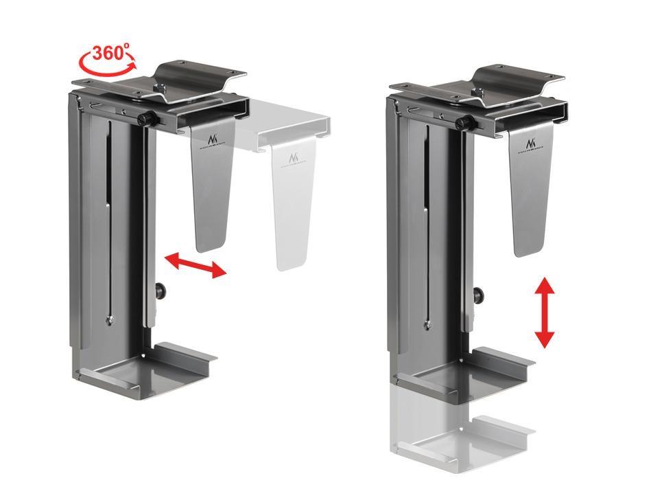 Držák PC, univerzální, pevný, spolehlivý, bezpečný. Uchycení PC na stůl, stěnu nebo strop - Fiber Mounts PC713S