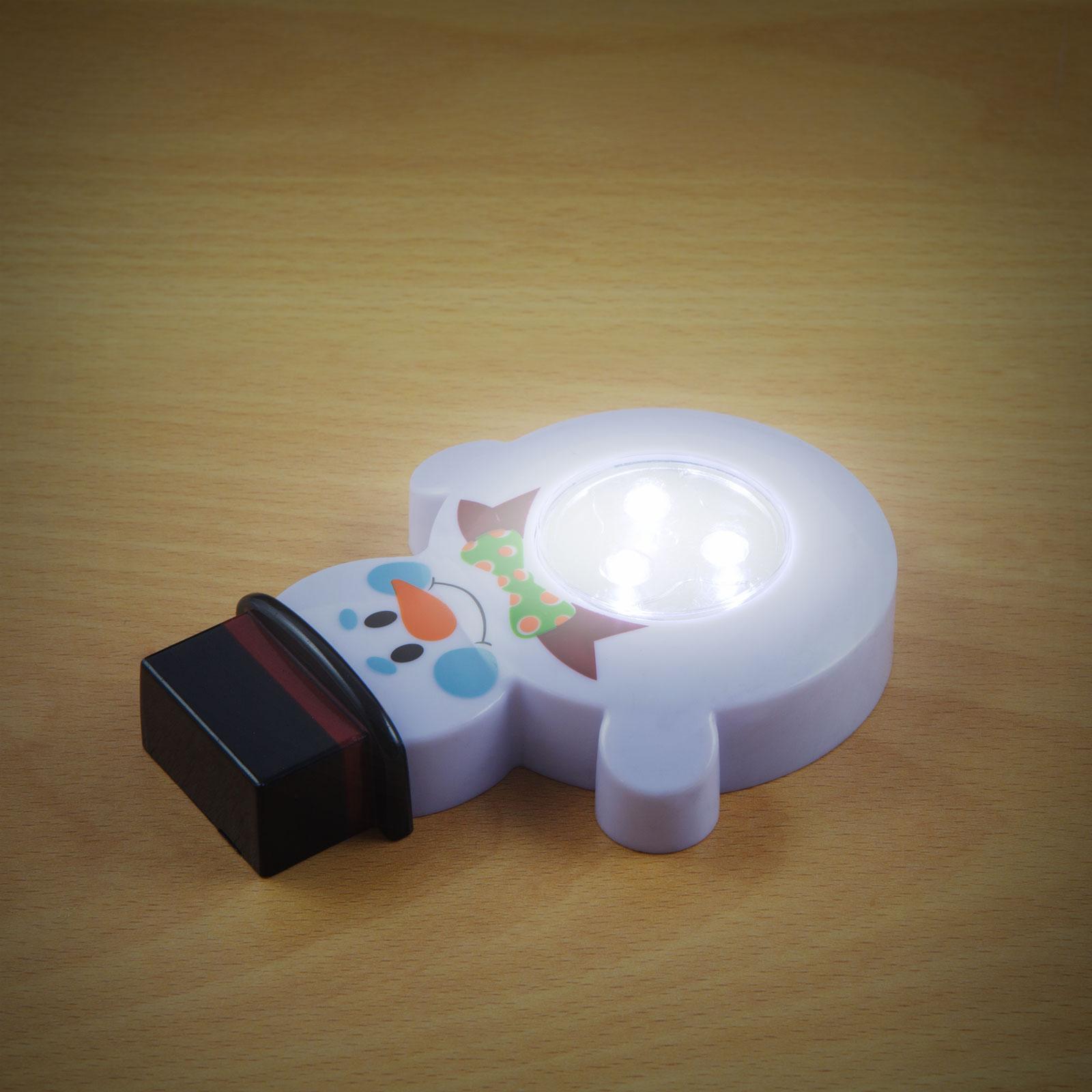 Noční světýlko pro děti do pokojíku Sněhulák