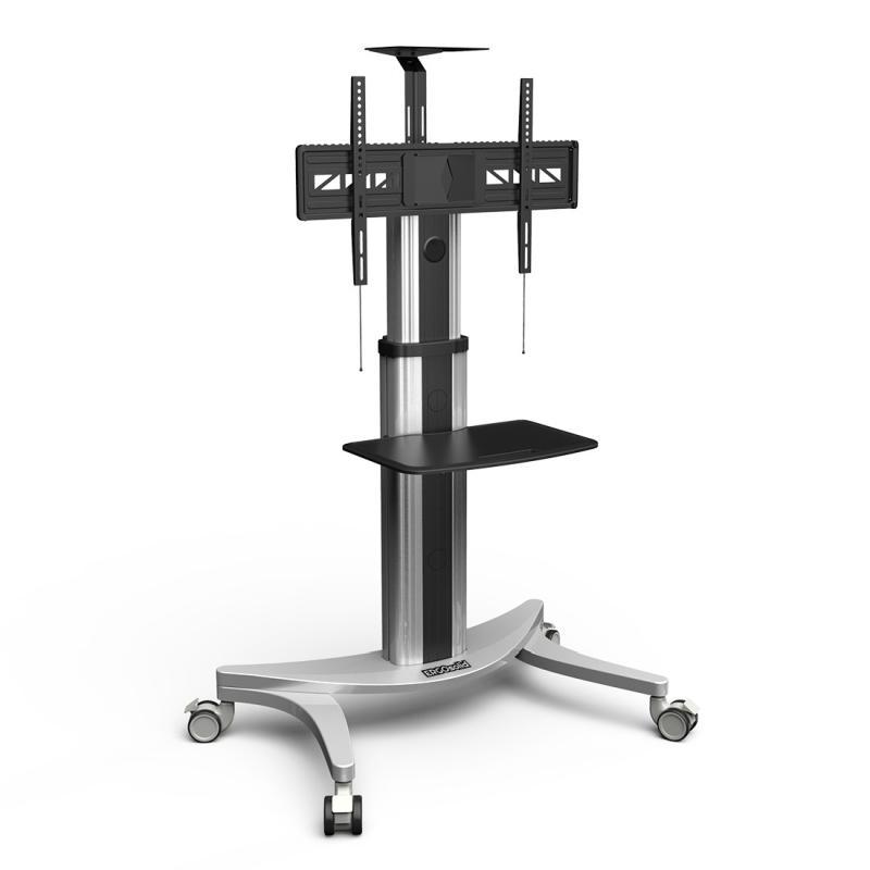 Kvalitní hliníkový stojan na televizory a monitory 32-70 palců, mobilní, polohovatelný - ErgoSolid ADAX50