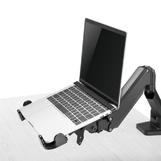 Přídavný držák pro uchycení notebooku nebo laptopu na stolní nebo nástěnný držák s VESA 75x75 a 100x100 - Fiber Mounts M8C36